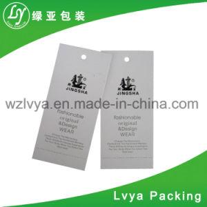 China de fábrica directamente la etiqueta de colgar la ropa de papel personalizados