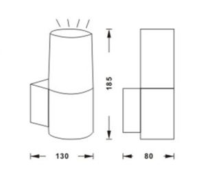 Цена с возможностью горячей замены IP44светодиодный индикатор для установки на стене подсветка 8291A
