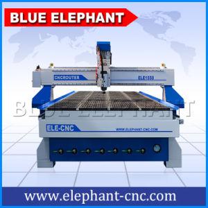 青い象MDFの打抜き機Ele1550 CNCのルーターのアルミニウムに合成にパネルの切り分けること