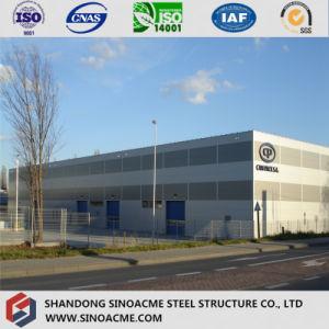 Estructura de acero prefabricados ignífugo la construcción de almacén de fábrica de bebidas