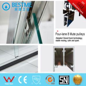 Dos fijas dos puertas corredizas Ducha sobre el precio de fábrica (BL-B0026-P)