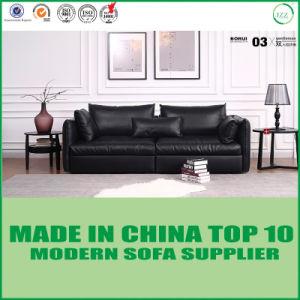Sofá moderno clásico europeo del cuero de los muebles de la sala de estar