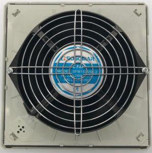 (Улп)15755 172X150X55мм серебристый и черный металлическими лезвиями AC осевых вентиляторов для охлаждения