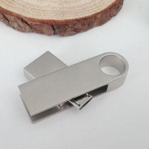 すぐに使える金属の旋回装置OTG Pendrive 16GBマイクロUSB