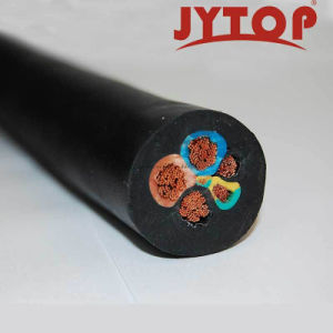 Cabo de solda com isolamento de borracha do cabo flexível