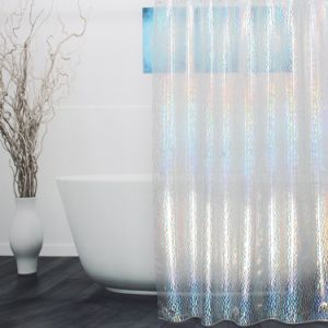 Resistente al moho cortina de ducha en 3D con Water-Repellent/Anti-Bacterial/Magnets