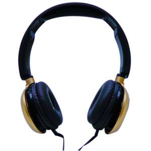 Превосходная на ухо проводные наушники с микрофоном металлических производительность HD низкочастотного звука