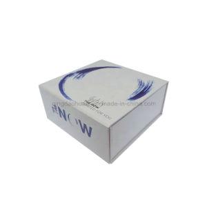 Caja de regalo de cartón blanco brillante de Magnetic para Custom