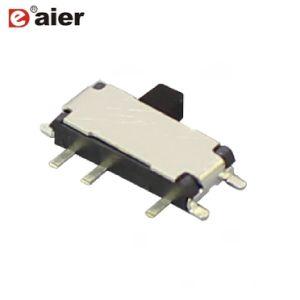 黒い0.5A 8pinの小さい電圧セレクタ2p3tのスライドスイッチ