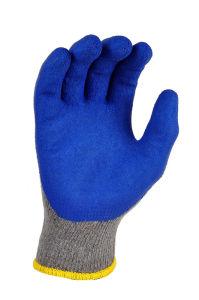 산업 폴리에스테 기본적인 작동 장갑, 유액은 매끄러운 그립을 입혔다
