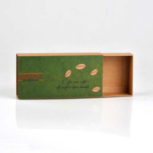 재생된 Kraft 서랍 상자 Kraft 종이 선물 상자