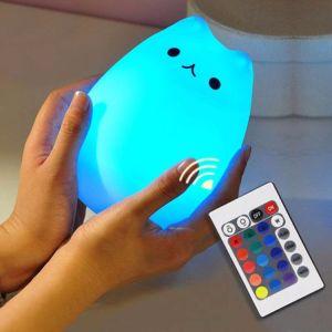 Nettes vielfarbiges LED Nachtlicht der Qualitäts-für Baby mit Nahrungsmittelgrad-Silikon-Shell 100%