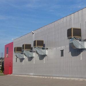 30000 см водного столба воздушного потока PP пластиковой промышленной охладитель нагнетаемого воздуха на заводе
