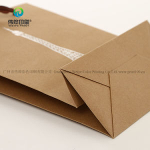 Haut de gros de la qualité de l'impression personnalisée réutilisables emballages en papier kraft Sac cadeau