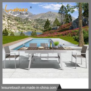 Pátio funcional definido esticar a mesa de jantar e cadeira Mobiliário de Jardim