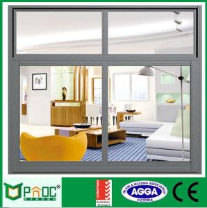 Finestra di scivolamento termica di alluminio di vetro Tempered del doppio della rottura con il hardware cinese di alta qualità