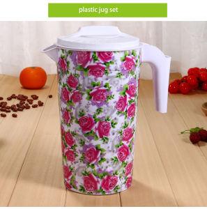 [2213.5كم] زهرة طباعة [هيغقوليتي] جيّدة يبيع بلاستيكيّة إبريق مجموعة