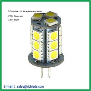 A intensidade de PWM G4 Lâmpada de substituição de LED/12V/2.3W/200lm