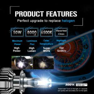 H7 LEDのヘッドライトの球根の変換キット8000の内腔6500K白い車ヘッドランプ
