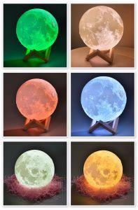Colore della lampada 16 di notte della luna del vinile e telecomando ed USB 20cm ricaricabili