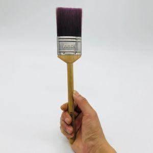 長いプラスチックハンドルの接着剤の絵筆か円形の剛毛の絵筆