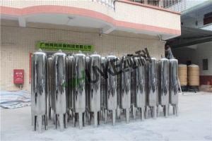 O tanque de água em aço inoxidável industrial do sistema do filtro de Areia