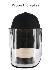 Removível destacável de gotículas de impedir o PVC Máscara surto de pneumonia Pac com saco