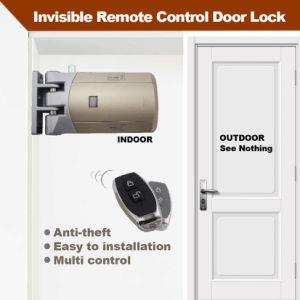 Sin cableado fácil instalación más segura 433 MHz antirrobo inteligente Invisible Cerradura con 2 mandos a distancia