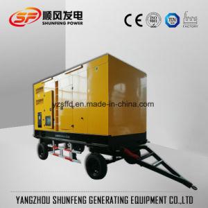 Для мобильных ПК 210квт электроэнергии Cummins молчания дизельный генератор с прицепом