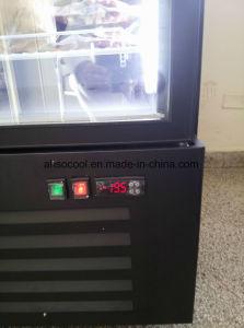 Congelatore di vetro dritto libero della visualizzazione dell'alimento Frozen del portello di gelo del LED