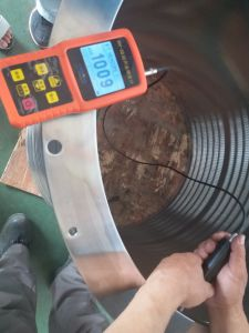 Slot do fio de cunha 316L Cesto de tela para tela de pressão na linha de celulose