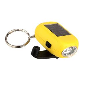 Dinamo Solar Llavero Mini Linterna LED anillo