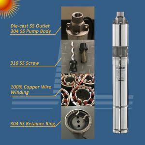 La energía solar de la bomba de rotor helicoidal, Die-Cast salida de acero inoxidable bomba Solar, Solar de la bomba de tornillo