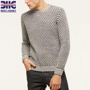 メンズジャカードによって編まれる丸首のセーターのプルオーバーの蜂家パターン