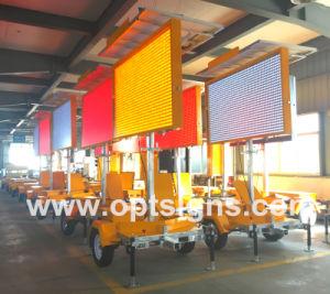 Segni montati rimorchio alimentati solari completi di colore LED VM di colore dell'ambra 5 di Optraffic