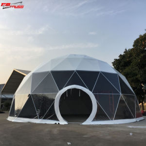 10m transparente Camping Dome Geodésico tenda para a parte