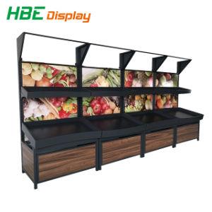 Verbrauchergrossmarkt-spezieller Entwurfs-Insel-Ausstellungsstand für Gemüse und Frucht
