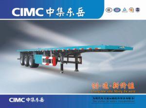 Conteneur de l'essieu Cimc 3 Semi-Trailer à plat