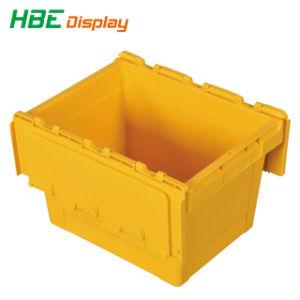 Fixe a tampa de segurança de armazenamento de dobragem de plástico empilháveis caixas colapsável