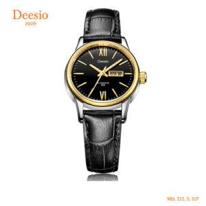 Deesio N83 guarda la vigilanza di marca delle donne del cronografo di sport della ragazza di cuoio di lusso meccanica di affari