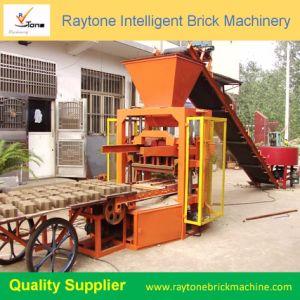 O Qt4-24 Baking Livre Manuel Curnstome máquina para fabricação de tijolos ocos sólido