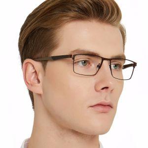 Optische Oogglazen van uitstekende kwaliteit van de Frames van het Metaal de Rechthoekige voor Vrouwen en Mannen