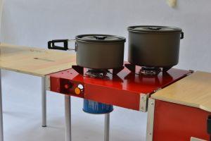 BBQのための食べキャンプの多機能のキャンプボックス