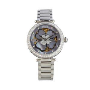 Empresas de maquinaria de simulación de acero resistente al agua de regalo de Men's Watch Relojes de moda vestido tejido