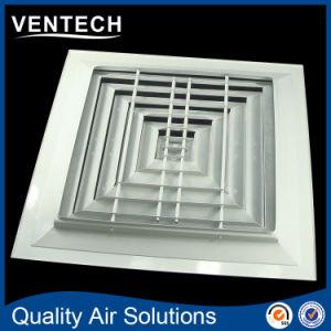 Difusor de 4 vías de salida de aire de ventilación de aire Los difusores de techo cuadrado