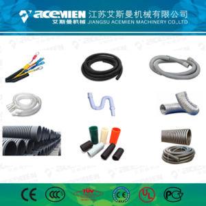 HDPE PE PP PVC de pared simple/doble tubo corrugado que hace la máquina Línea de extrusión