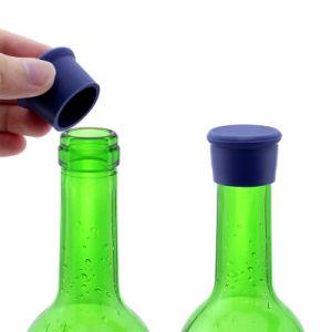 Bouchons de vin de silicone joint silicone réutilisables de bouteille de vin de bouchons de bouteille de butée