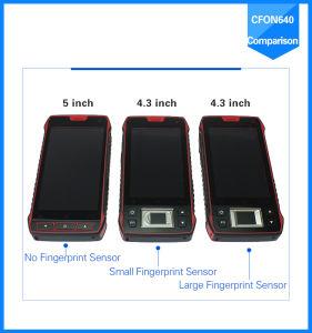 China 4G 4.3 polegadas IP65 Rugged Shockproof Handheld Fingerprint Sensor