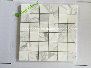 2015 Venta caliente mosaico Mosaico de mármol blanco