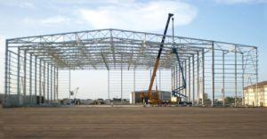 Edificio modificado para requisitos particulares industrial de la estructura de acero vertido/almacén